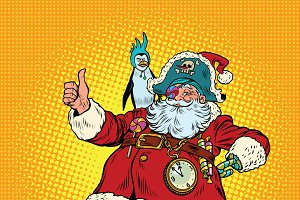 Santa Claus pirate thumb up