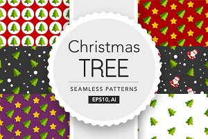 1 Christmas Tree Seamless Patterns
