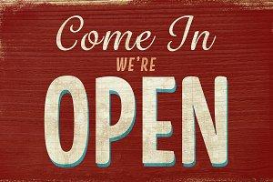 Vintage sign Open