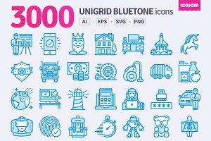 3000 Unigrid Bluetone icons