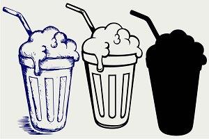 Milk shake SVG