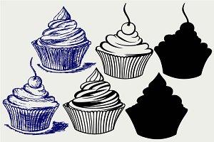 Cute cupcake SVG