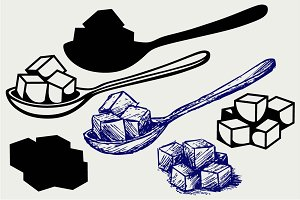 Refined white sugar SVG