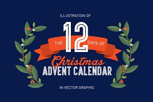 12 days of christmas vector