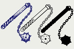 Mace and chain SVG