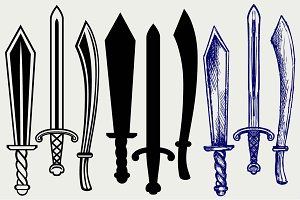 Medieval swords SVG