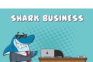 Smiling Business Boss Shark