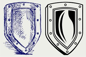 Medieval military shield SVG