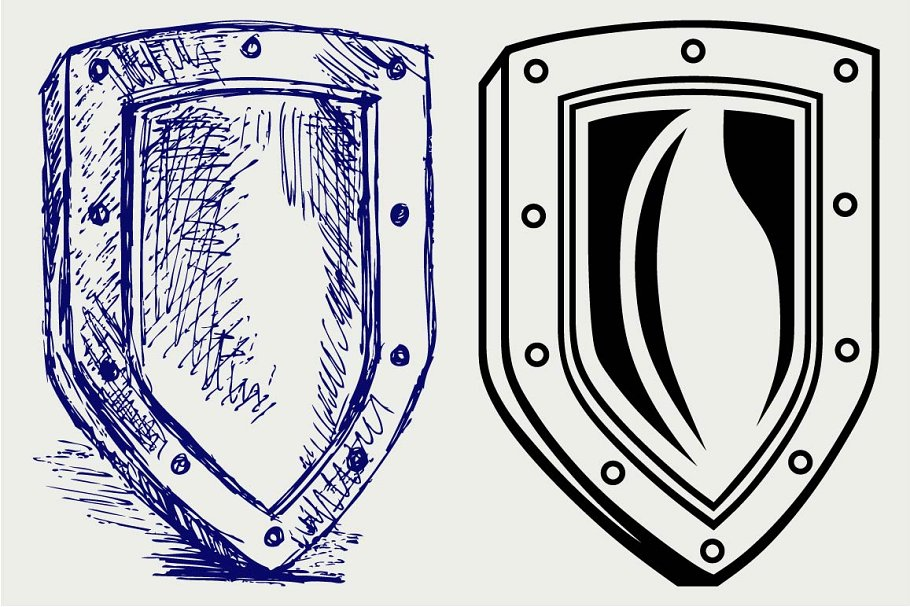 Medieval military shield SVG
