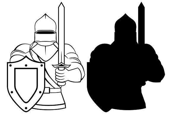 Medieval knight SVG in Graphics