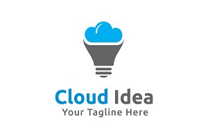 Cloud Idea Logo Template