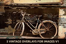 5 Vintage Overlays for Images V.1