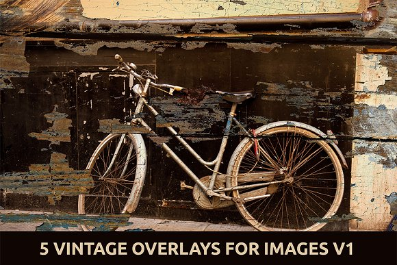 5 Vintage Overlays for Images V.1 - Graphics