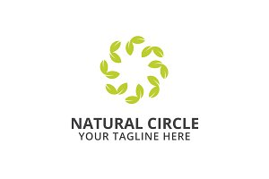 Natural Circle Logo Template