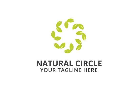 Natural Circle Logo Template