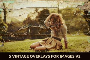 5 Vintage Overlays for Images V.2