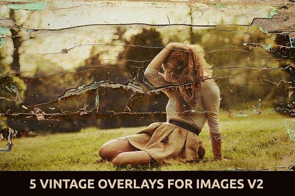 5 Vintage Overlays for Images V.2