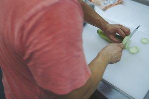 Chopping Cucumber
