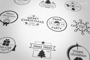 Christmas Vector Badges Logos