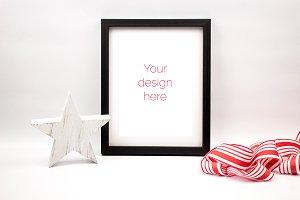 Black Christmas Frame PSD Mockup