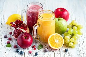 Fruit and berry vitamin smoothie