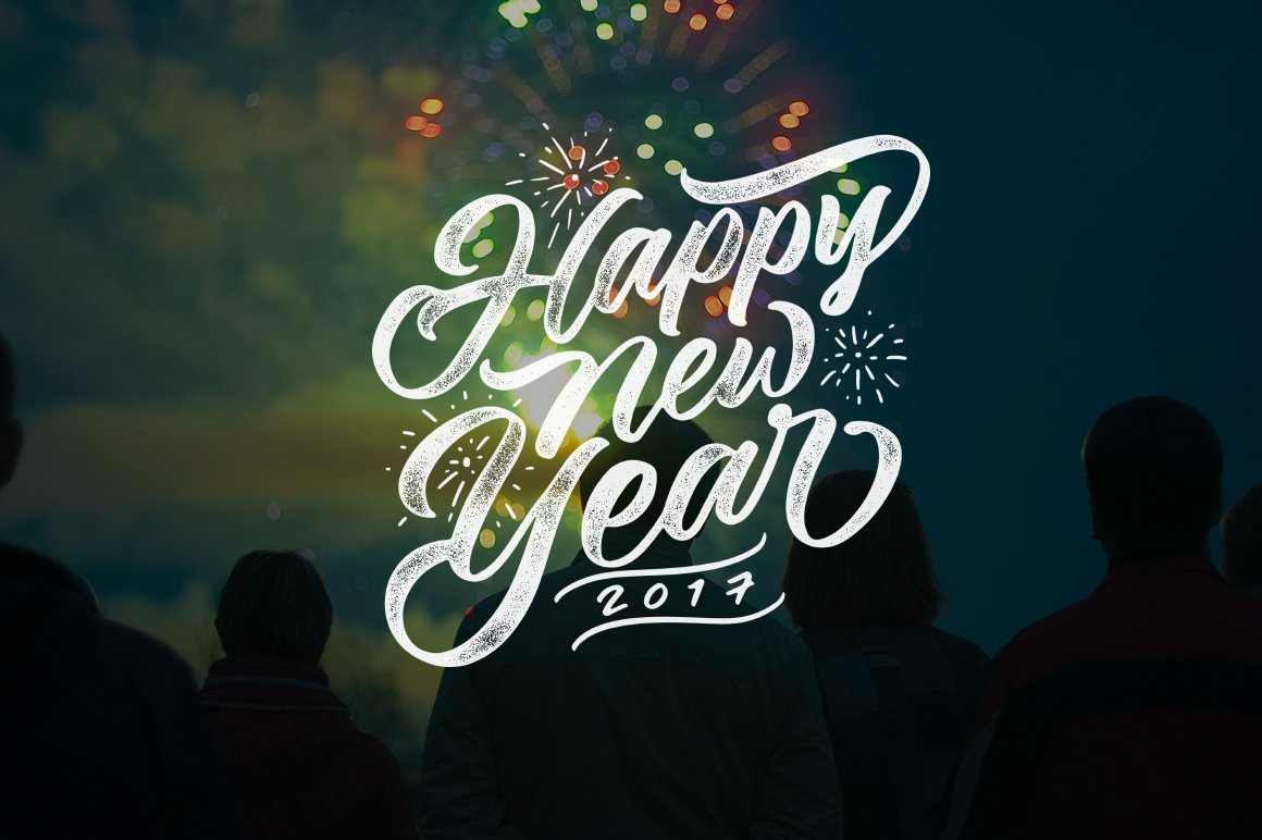 new year lettering overlays illustrations creative market