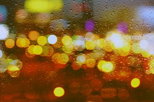 Bokeh In The Rain III