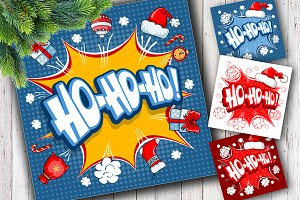 Christmas design with Ho ho ho