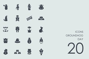 Groundhog day icons