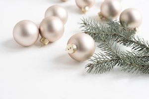 Holiday Soft Gold Ornaments