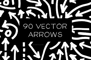 90 Hand Drawn Vector Arrows