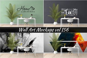 Wall Mockup - Sticker Mockup Vol 156