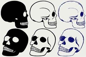 Set human skull SVG