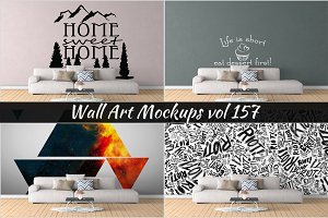 Wall Mockup - Sticker Mockup Vol 157