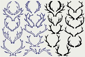 Deer horns SVG