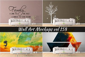 Wall Mockup - Sticker Mockup Vol 158