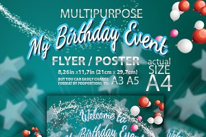 Kid Birthday Event Flyer