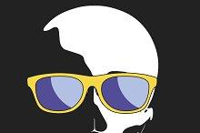 skull wearing sunglasses