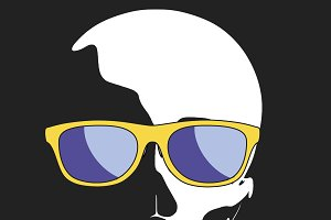 skull wearing sunglasses