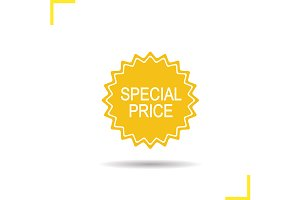 Special price sticker. Vector