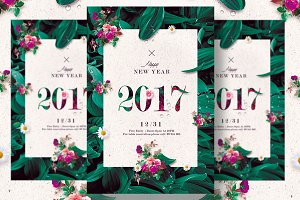 Classy New Year - Floral Invitation