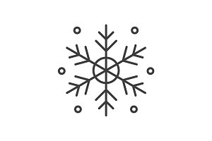 Snowflake linear icon. Vector