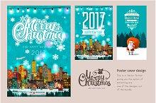 Set of Christmas poster designs