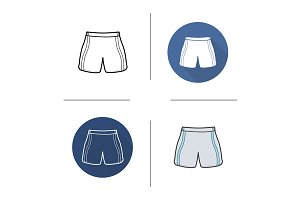 Shorts. 4 icons. Vector
