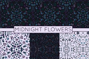 Floral Vector Patterns - Midnight