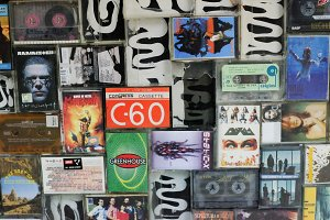 Audio cassette wall 2
