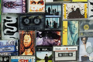 Audio cassette wall 1