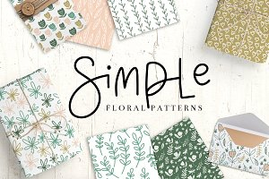 Simple Floral Pattern Collection