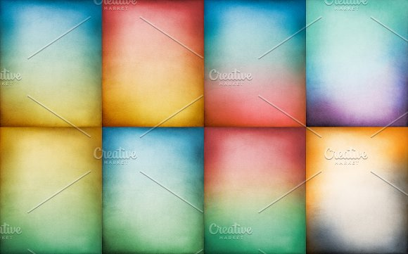 Textured Color Gradient Papers