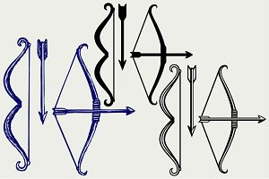 Bow and arrow SVG